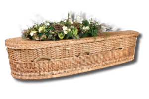 green burial wicker casket
